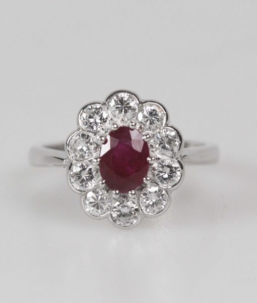 Ruby and diamond ring – New-5140